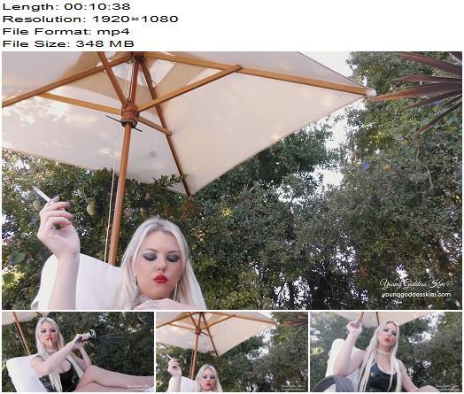 Young Goddess Kim  Personal Human ashtray  Femdom Pov preview