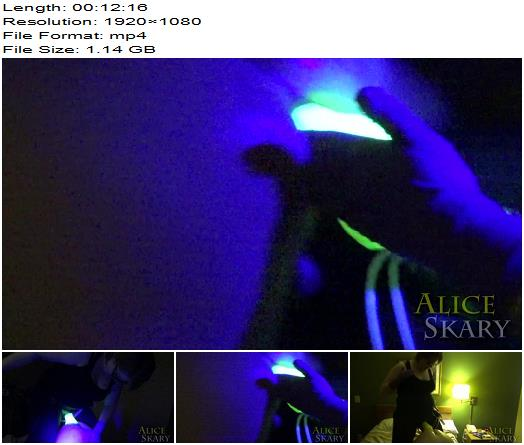 Goddess Alice Skary  Neon Glow Ejaculating Strapon Cock  Thick Dildo Pegging By Blacklight  Femdom preview