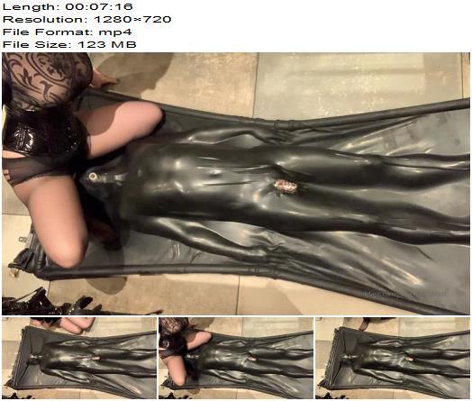 Goddess Gynarchy  Slave in Bag Breath control  Bondage preview