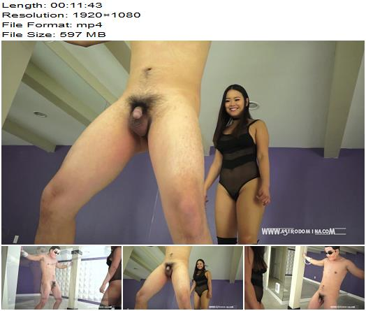 AstroDomina  Ballbusting In My Lair  part 1  Ball Abuse preview