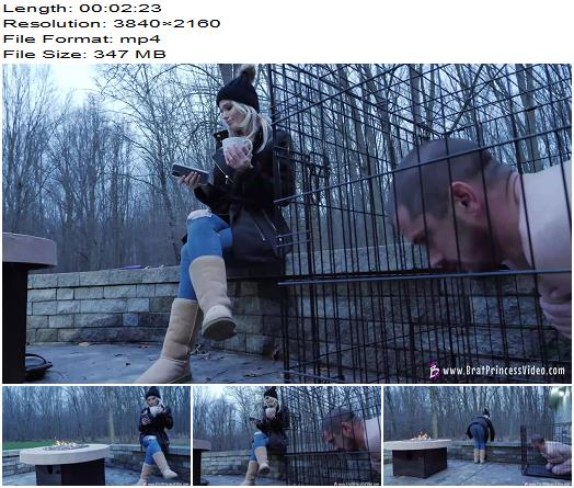 Brat Princess 2  Amber  Hoses down slave in freezing weather 4K  Femdom preview