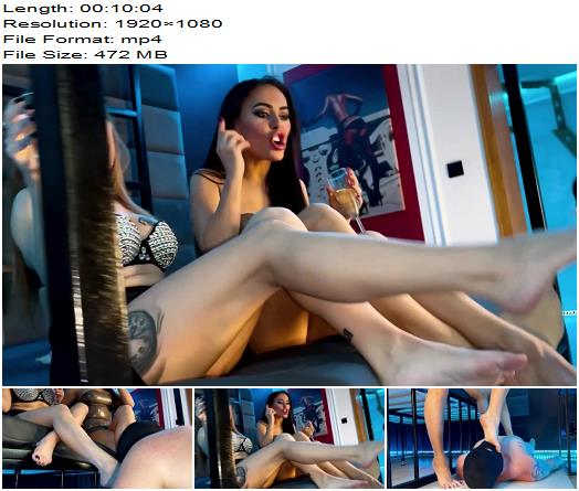 Evil Woman  Double Domme Feet Worship  Fetish preview