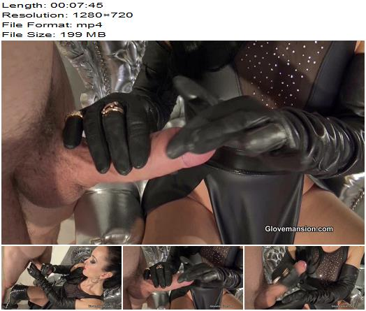 GloveMansion  Fetish Liza  Leather gloves and jewelry handjob part 2  Femdom POV preview