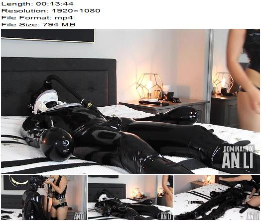 Mistress An Li  Ruined in Rubber  Part 1  Bondage preview