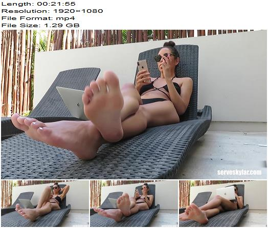 ServeSkylar  Vacation brat ignores you 2  Foot Fetish preview
