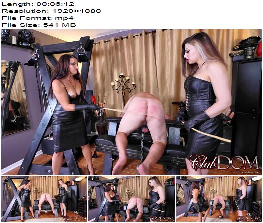 Club Dom  Isobel and Michelle Caning Perp  Femdom preview