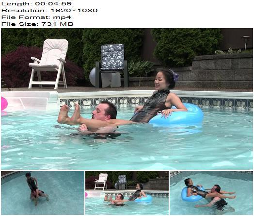 Club Stiletto FemDom  Riding Women  Miss XI  Scissored Pool Pony  Human Animal preview
