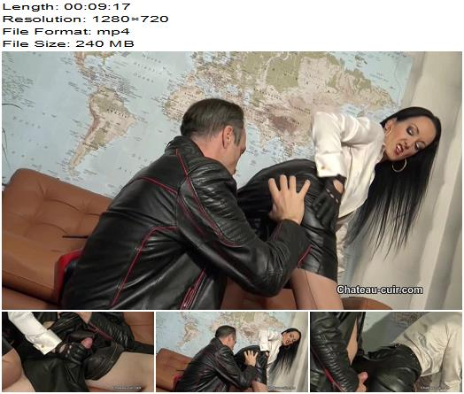 Kinky Leather Clips  ChateauCuir  Fetish Liza  Leather Fetish Therapy Session 3  Part 2  Handjob  Milking preview