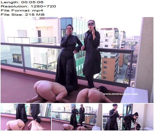 Mistress Gaia  Smoking With My Friend Mistress Ezada  Femdom preview