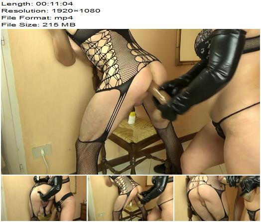 Mistress Strapovskaya  Femdom Fucks Guy With A Huge Strapon Pegging preview