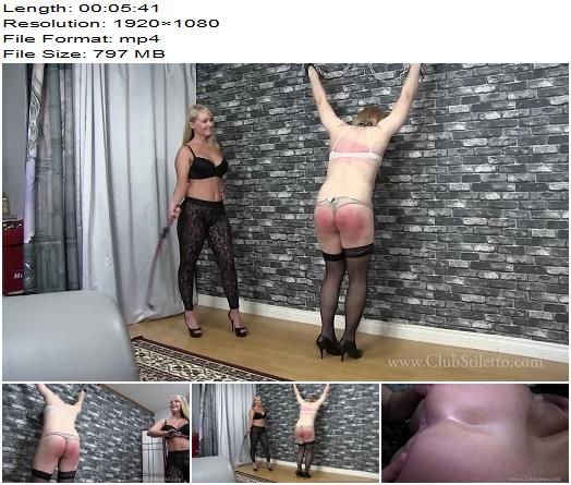 Club Stiletto FemDom  Mistress Kandy Flogged Ass eating Sissy  Bondage preview