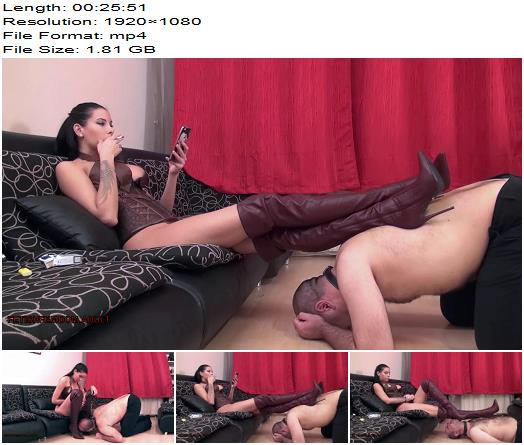 EuroFemdom Elite Rea High Boot Society Boot Worship And Domination FULL CLIP  Femdom preview