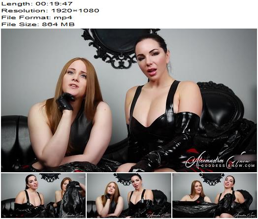 Goddess Alexandra Snow  Garbage Featuring Miss Noel Knight  Forced Fem preview