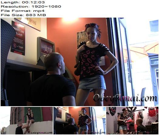 Humiliation POV  Real Time Cash Meet Public Shopping Pig and Public High Heel Worship   Princess Amai Liu preview