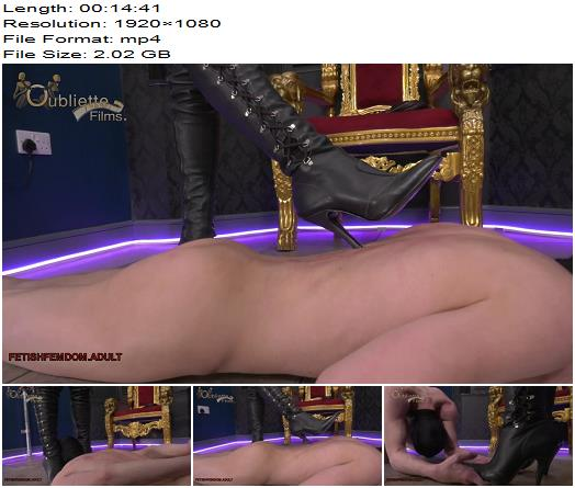 Oubliette Goddess Serena Respect My Boots  CFNM preview