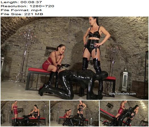 Queens of Kink Fetish Liza Nomi Melone Rubber Doll Jenna Rubber doll cleaning duties  Sissy preview