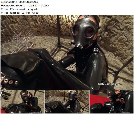 Queens of Kink Fetish Liza Smothered Rubber Gimp  Femdom preview