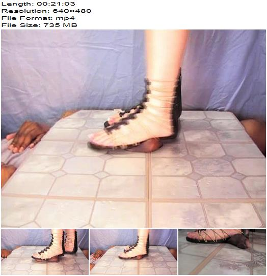 Squashed by gladiator sandals  Ball Abuse preview
