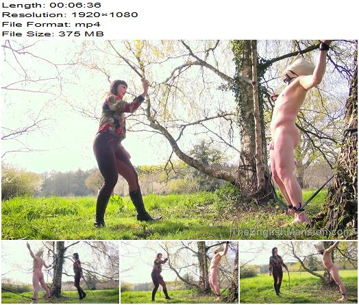 The English Mansion Miss Vivienne lAmour Alfresco SingleTail Part 2  Whipping and Caning preview
