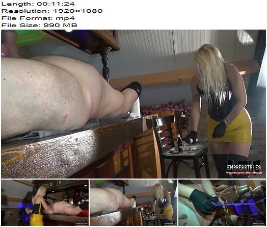 WOMEN OVER men  Bartenders cock in a tight spot   Mistress Kelly Kalashnik preview